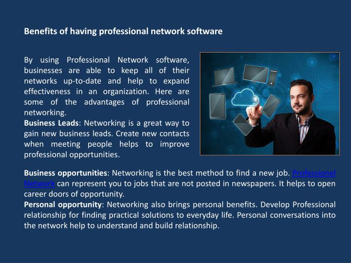 Benefits of having professional network software