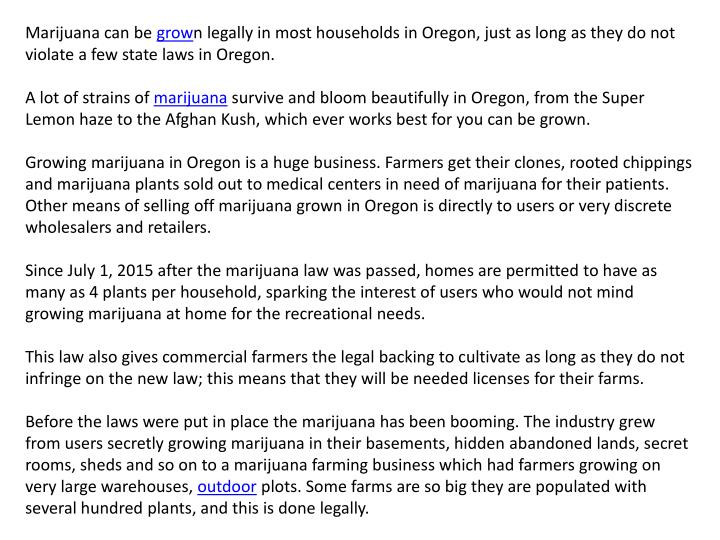 Marijuana can be