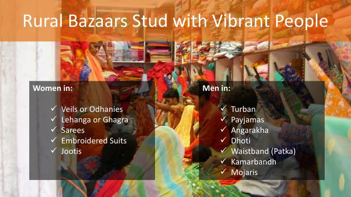 Rural Bazaars Stud with Vibrant People