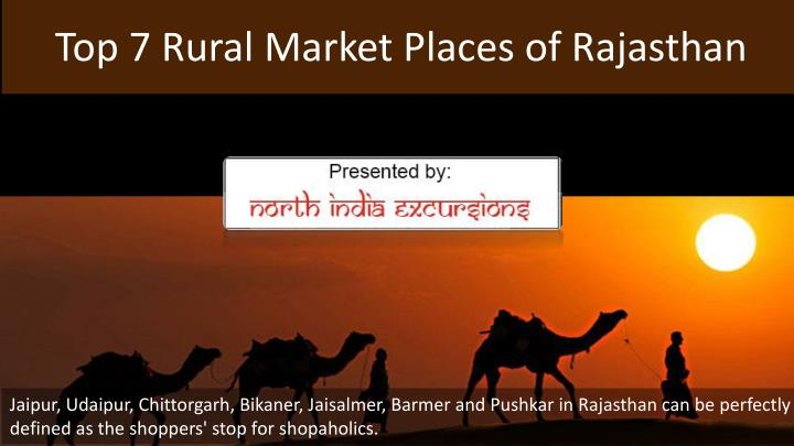 Top 7 Rural Market Places of Rajasthan