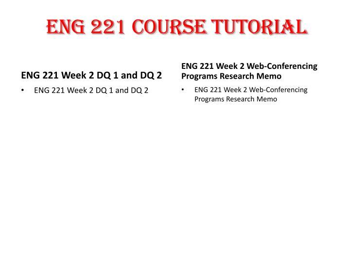ENG 221 Course