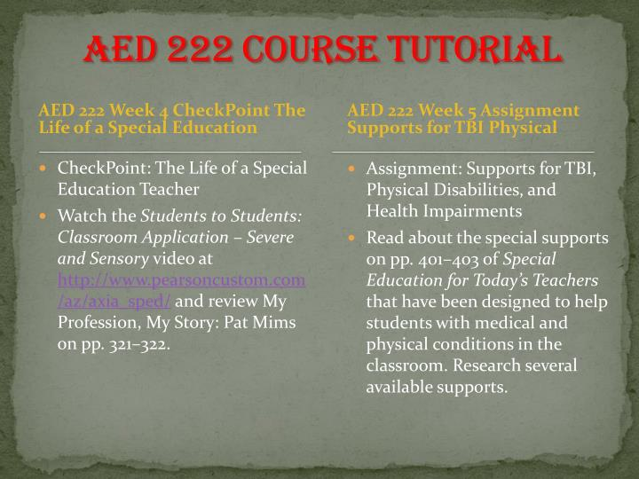 AED 222 Course