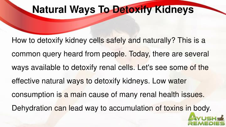 Natural Ways To Detoxify Kidneys