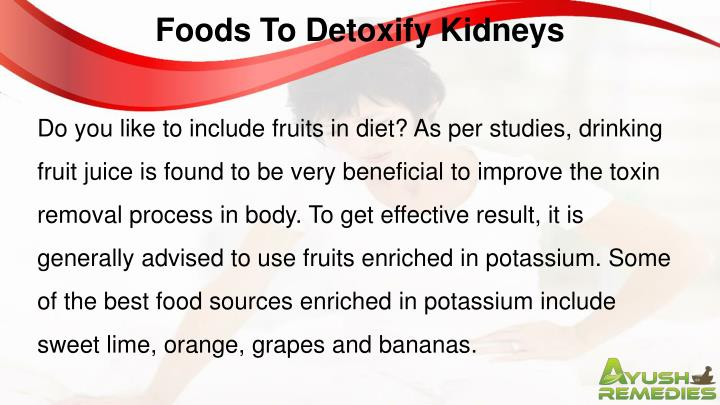 Foods To Detoxify Kidneys