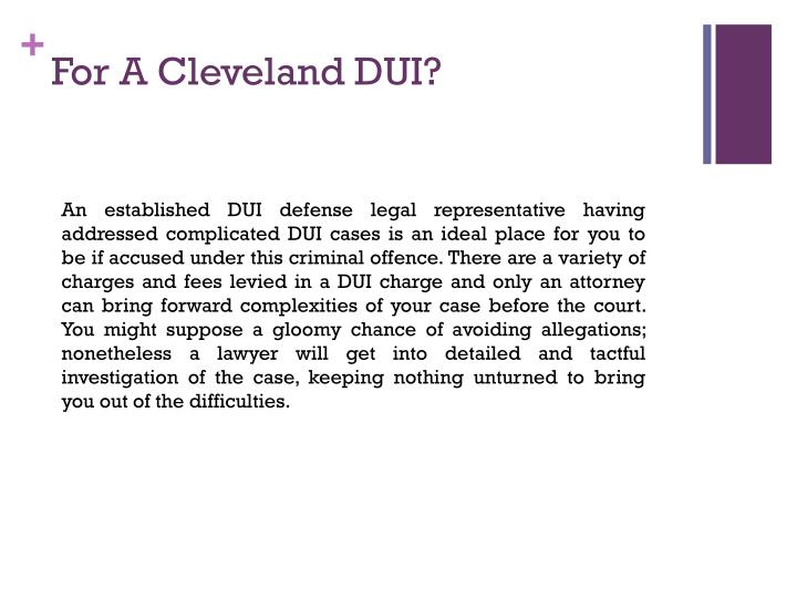 F or a cleveland dui1