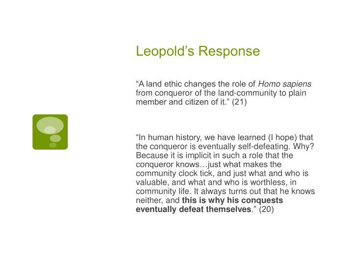Leopold's Response