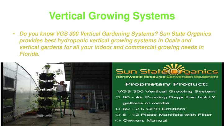 Vertical Growing Systems