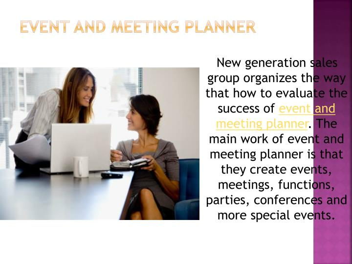 Event and meeting planner