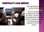 hospitality lead service