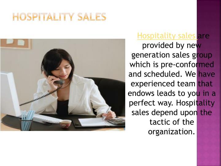 Hospitality sales