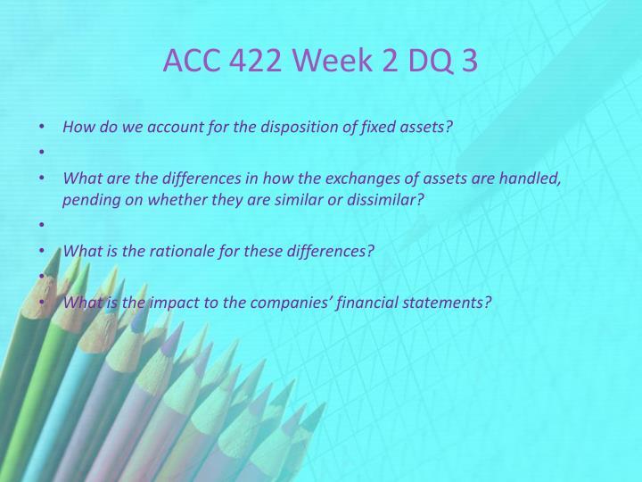ACC 422 Week 2 DQ 3