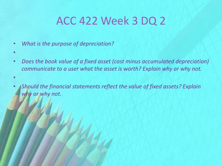 ACC 422 Week 3 DQ 2