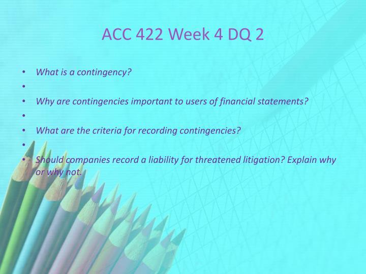 ACC 422 Week 4 DQ 2