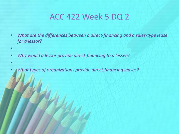 ACC 422 Week 5 DQ 2