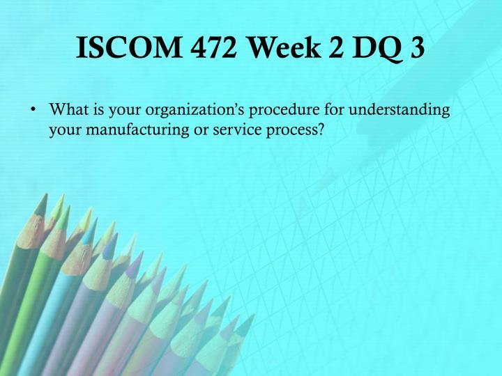 ISCOM 472 Week 2 DQ 3