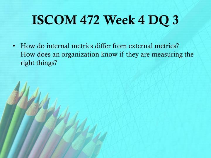 ISCOM 472 Week 4 DQ 3