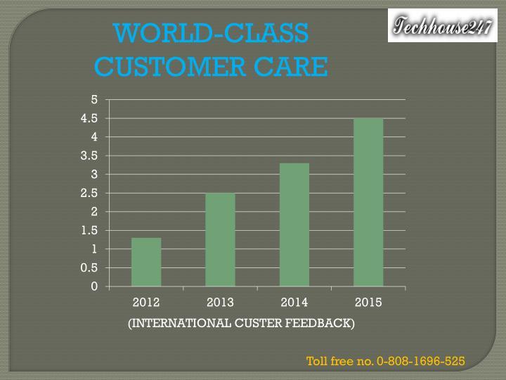 WORLD-CLASS CUSTOMER CARE