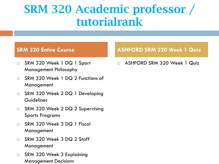 Srm 320 academic professor tutorialrank1