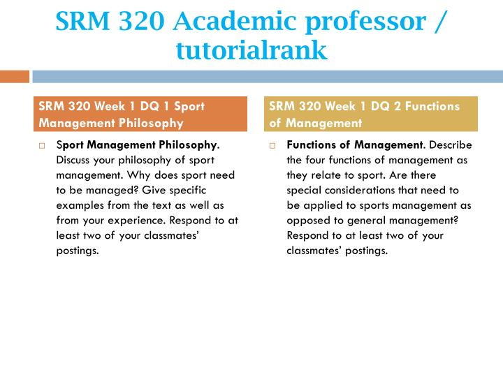 Srm 320 academic professor tutorialrank2