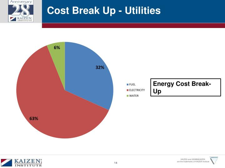 Cost Break Up - Utilities