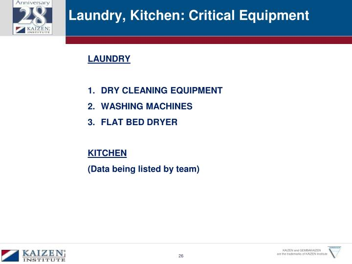 Laundry, Kitchen