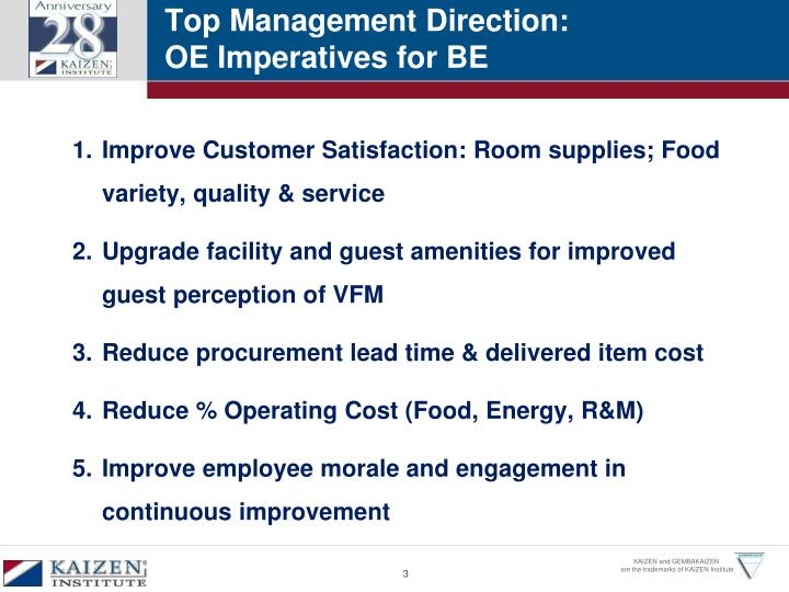 Top Management Direction: