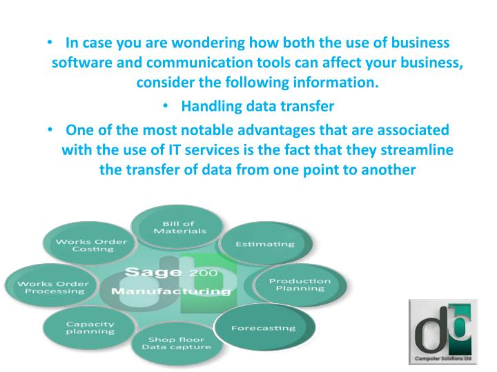 In case you are wondering how both the use of business software and communication tools can affect your business, consider the following information.