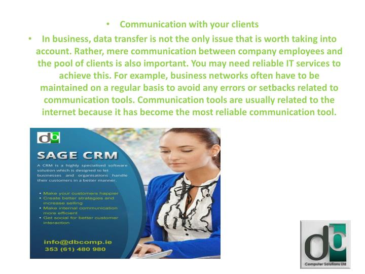 Communication with your clients