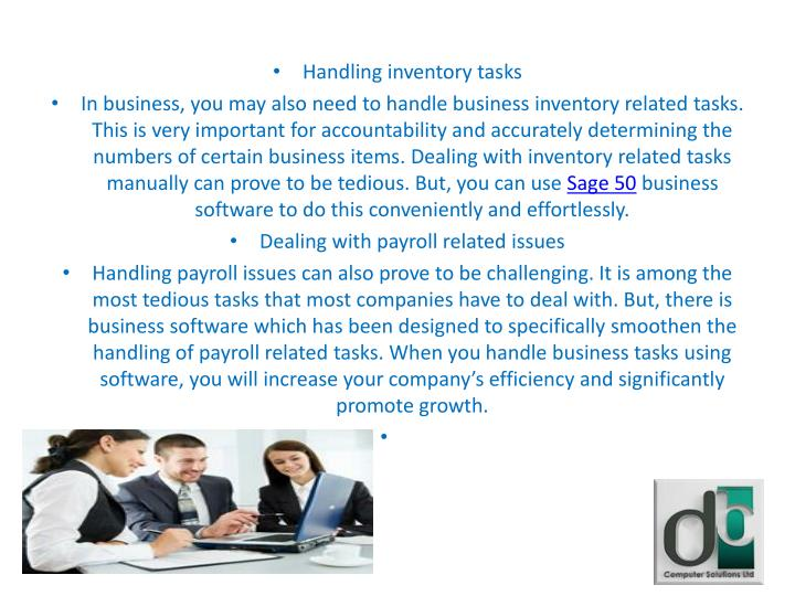 Handling inventory tasks