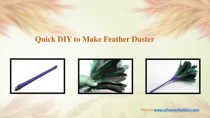Quick DIY to Make Feather Duster