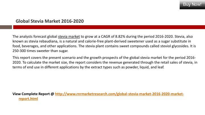 Global Stevia Market 2016-2020