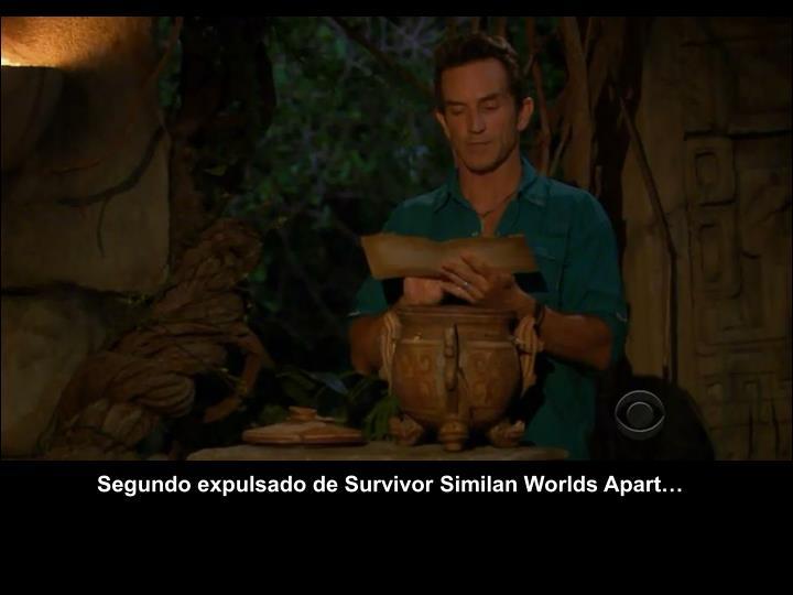 Segundo expulsado de Survivor Similan Worlds Apart…
