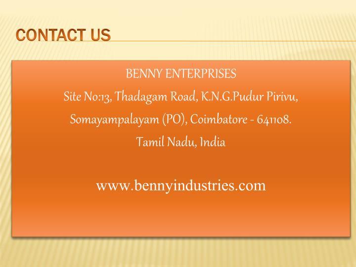 BENNY ENTERPRISES