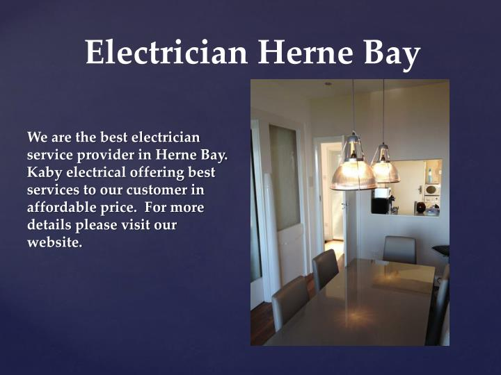 We are the best electrician service provider in Herne Bay.