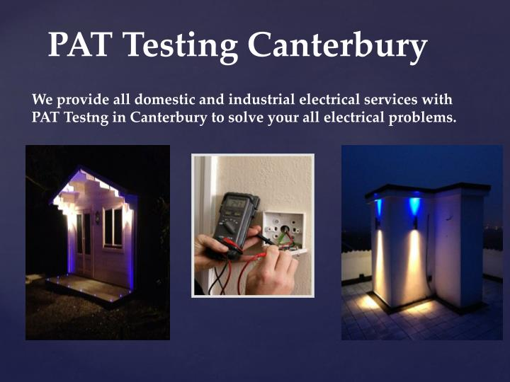 We provide all domestic and industrial electrical services with PAT