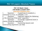phi 103 papers absolute tutors15