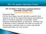 phi 103 papers absolute tutors18