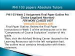 phi 103 papers absolute tutors4