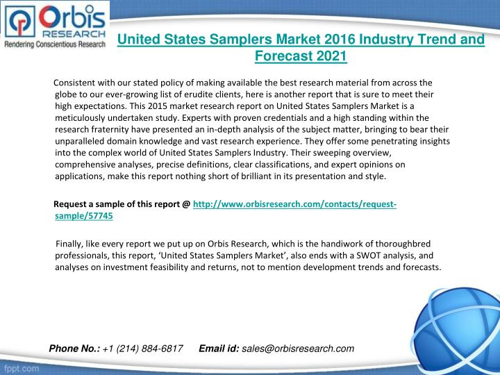 United states samplers market 2016 industry trend and forecast 20211