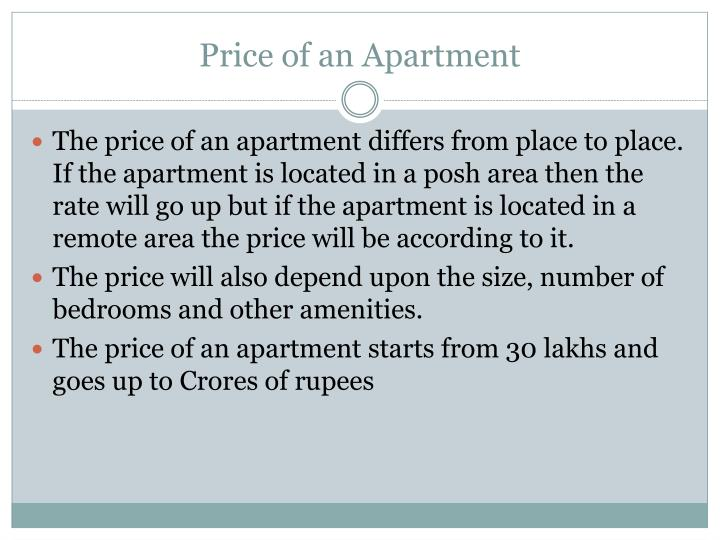 Price of an Apartment