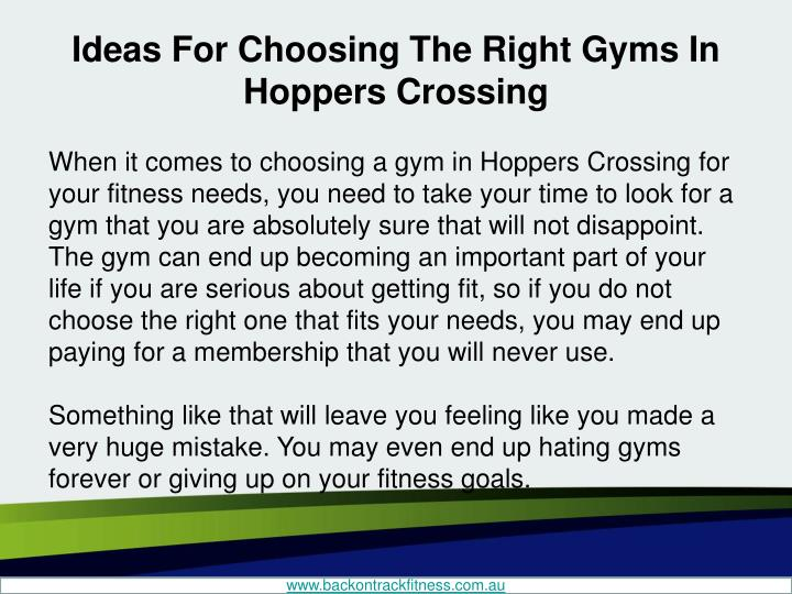 Ideas for choosing the right gyms in hoppers crossing1