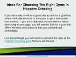 ideas for choosing the right gyms in hoppers crossing5