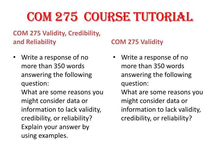 COM 275