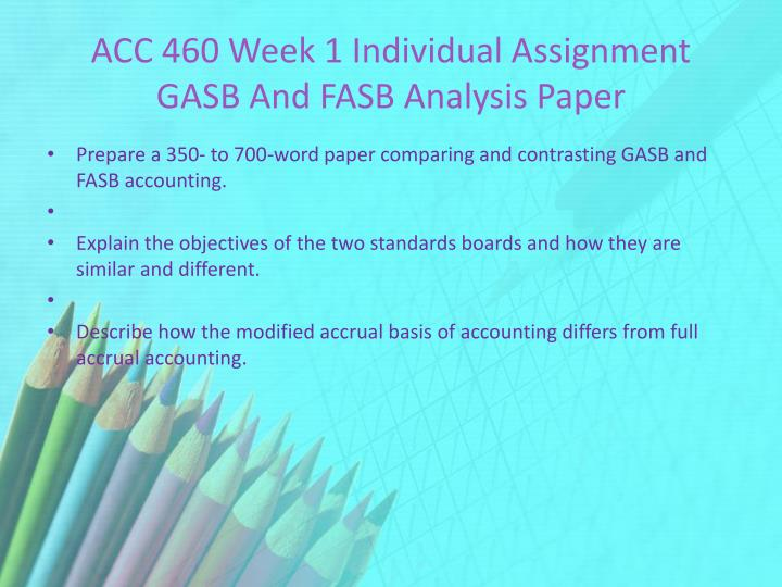 gasb and fasb analysis paper