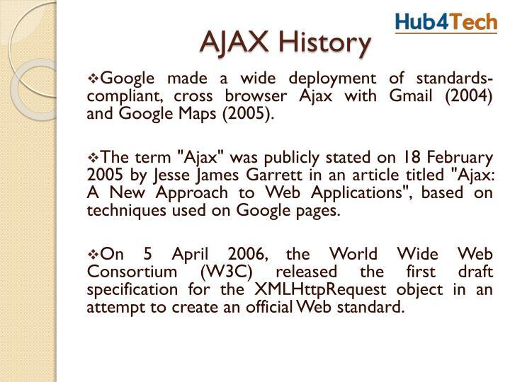 AJAX History