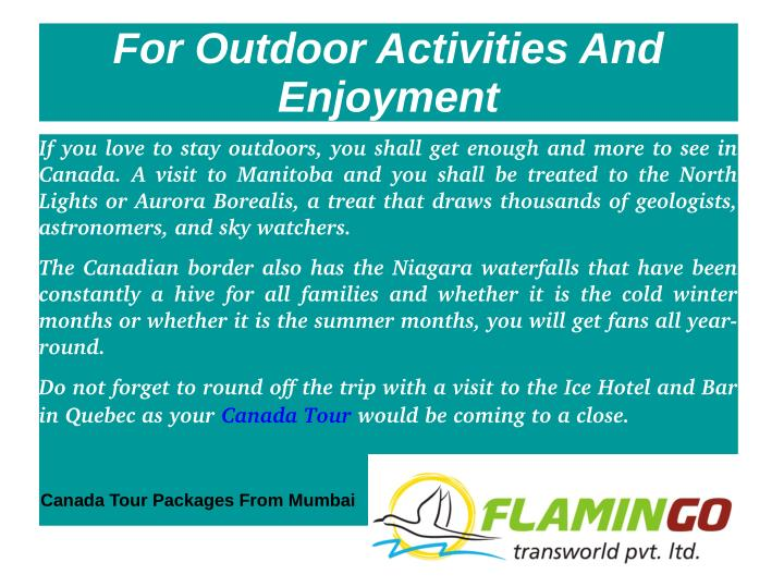 For Outdoor Activities And