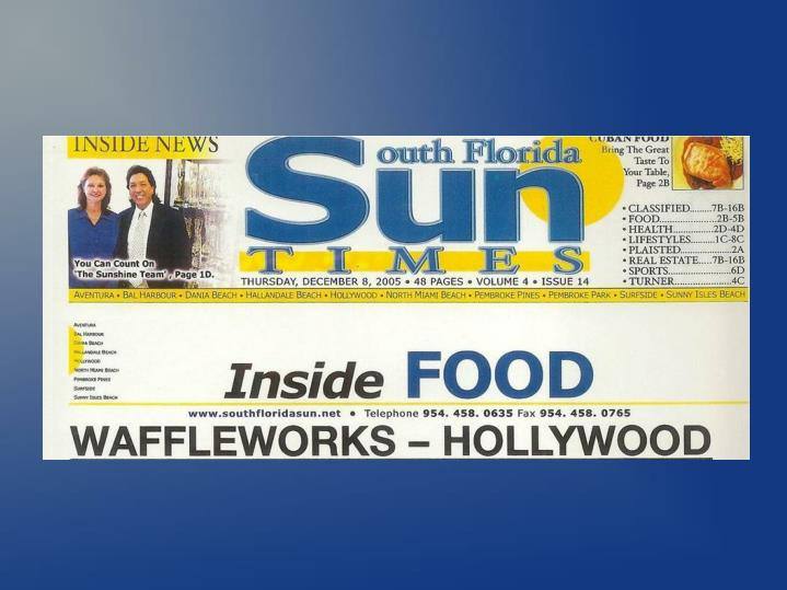 Waffleworks restaurant hollywood florida