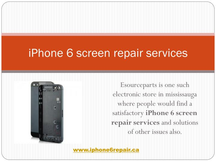Iphone 6 screen repair services