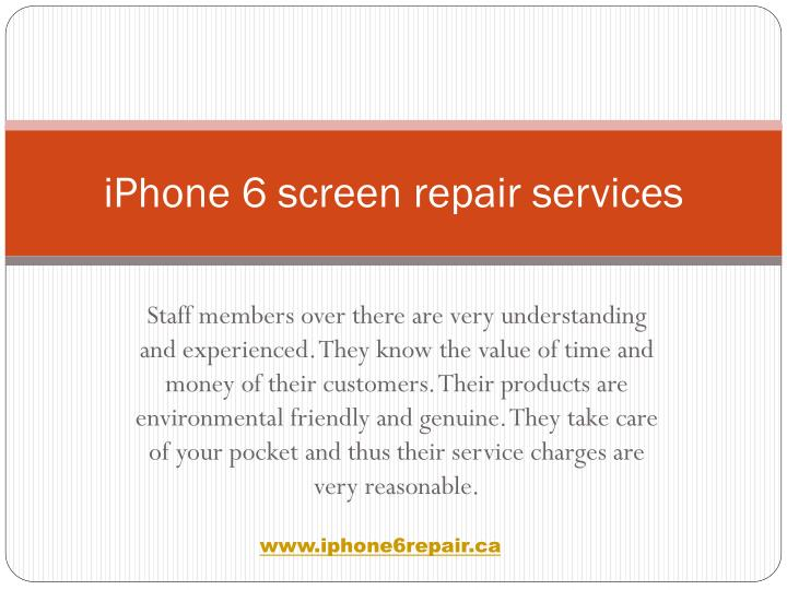 Iphone 6 screen repair services1