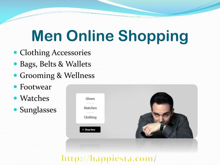 Men online shopping